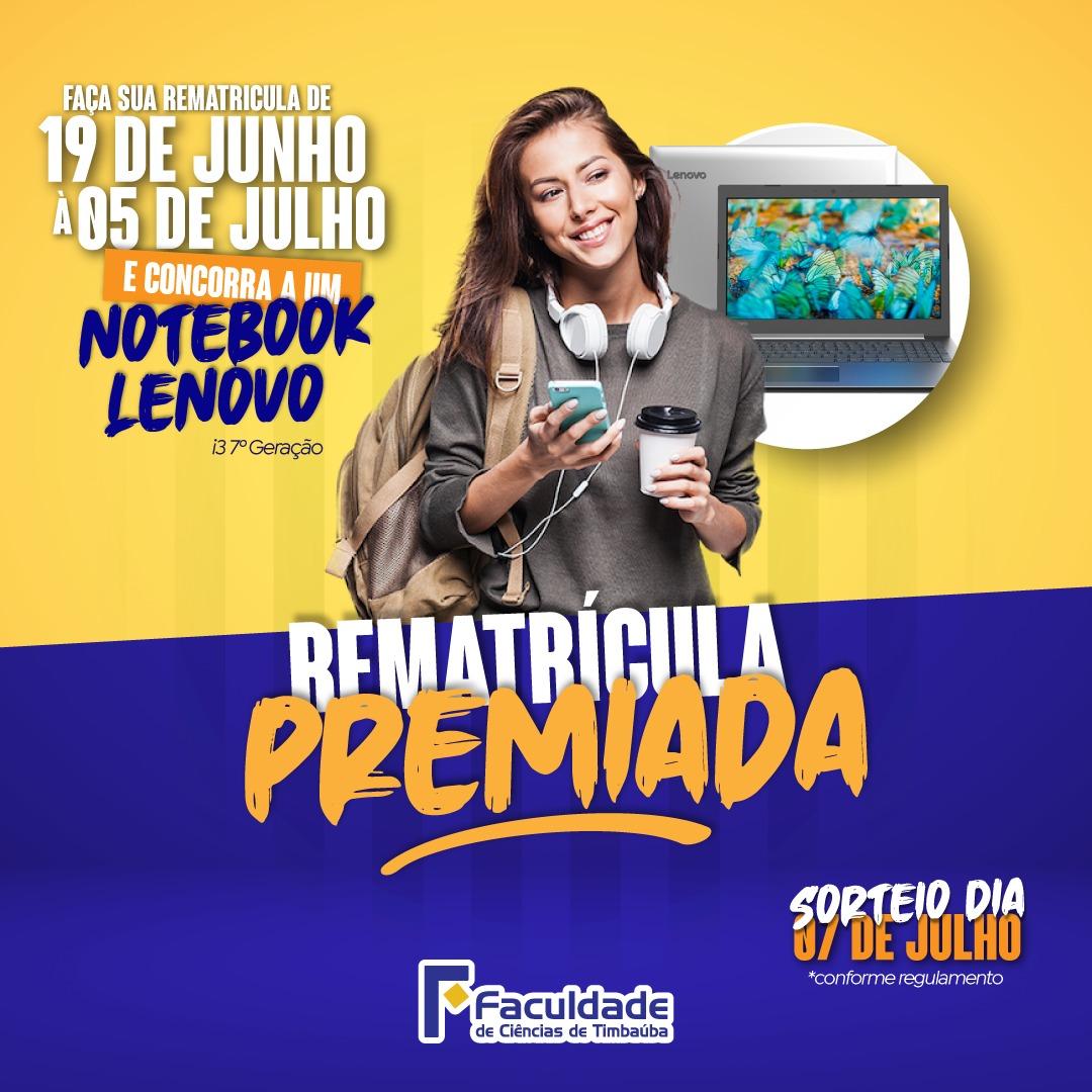 Promoção Rematrícula Premiada 2020.2